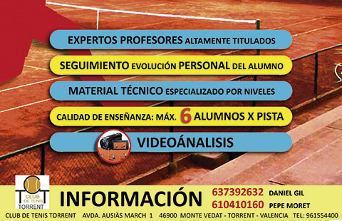 Inscripciones Escuela Tenis Torrent 2014-2015